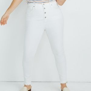 "Madewell 10"" High Rise Step Hem Skinny Jeans 30"